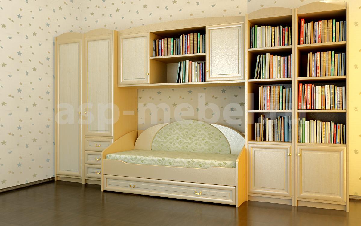 Шкаф и книжные полки для детской dets_5 купить детская мебел.